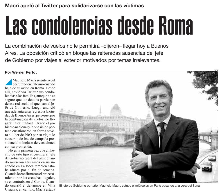 Las condolencias desde Roma, Página 12